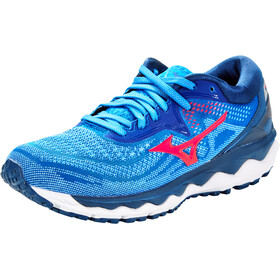 Mizuno Wave Sky 4 Shoes Women, princess blue/diva pink/2768c